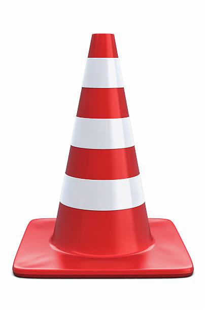 Standing Traffic Cone stock photo