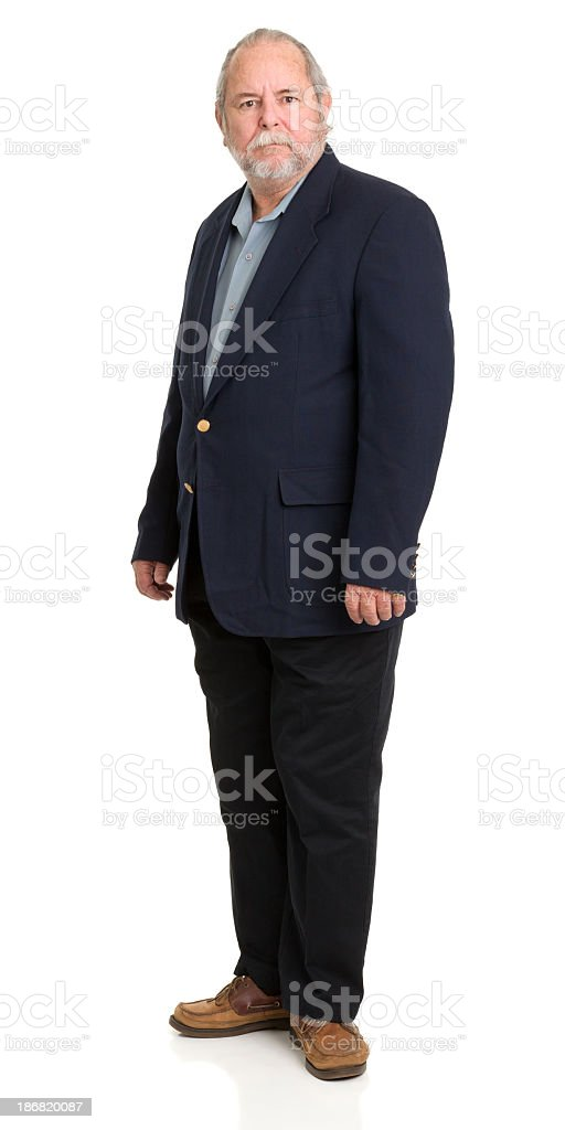 Standing Well-Dressed Senior Man royalty-free stock photo