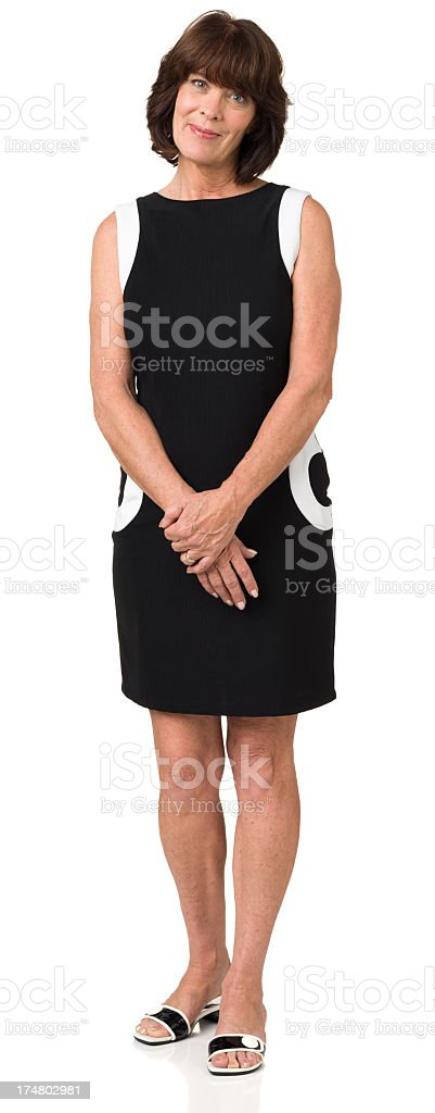 Standing Woman Full Length Portrait royalty-free stock photo