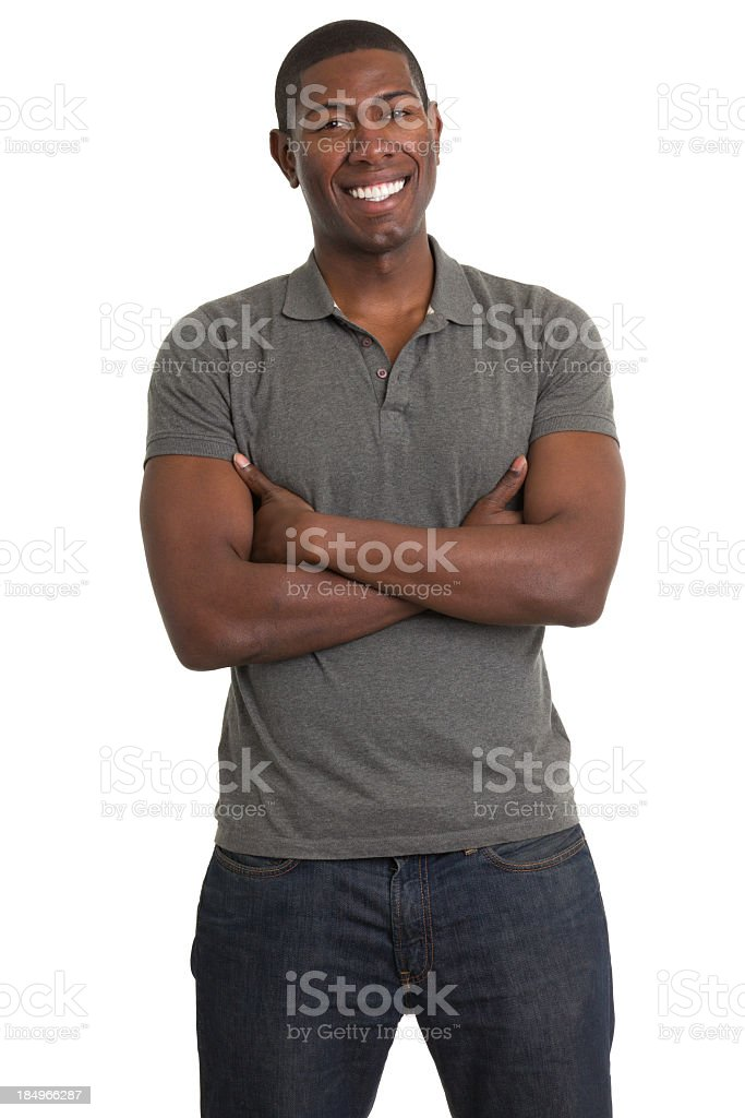 Standing Young Man Smiling stock photo