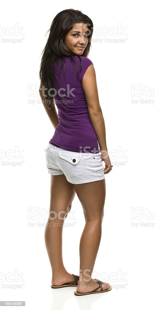 Standing Young Woman stock photo