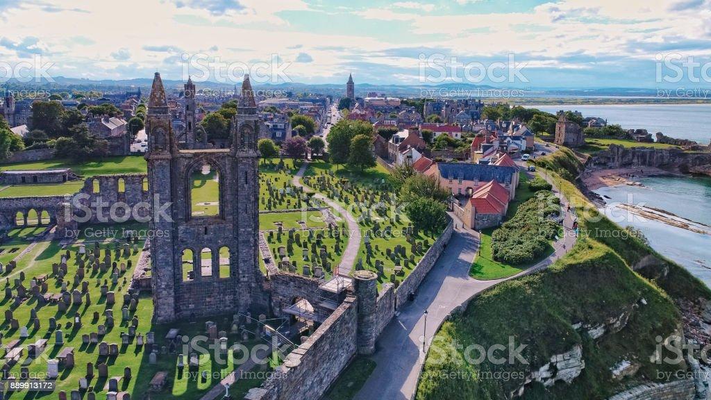 St.Andrews Aerial Scotland stock photo