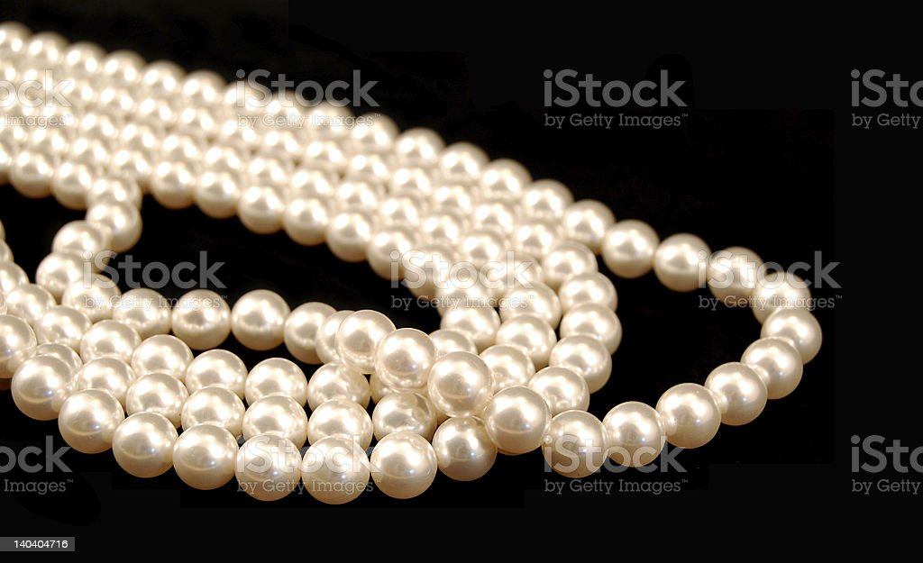 Stands of Pearls royalty-free stock photo