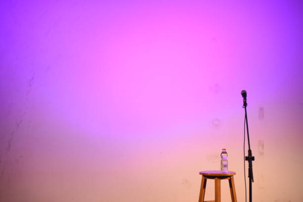 Stand-up comedy stage stock photo