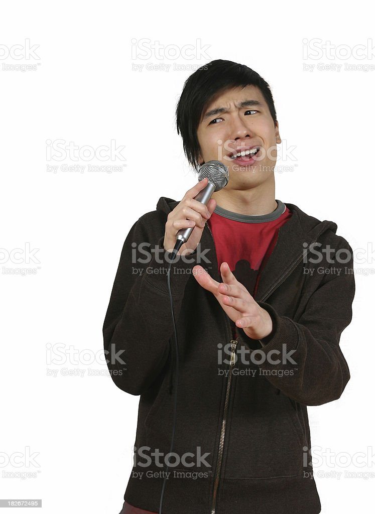 Standup Comic Male With Microphone royalty-free stock photo