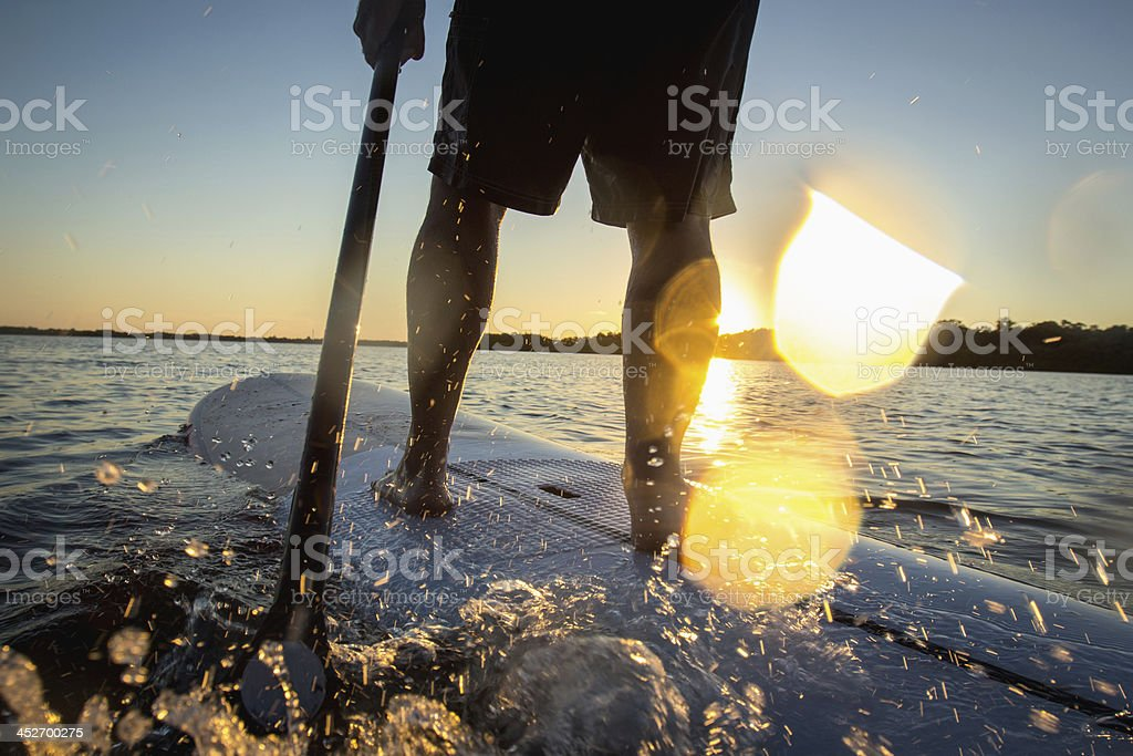 Stand-up paddle stock photo