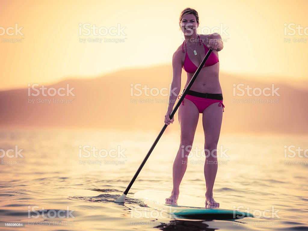 Standup Paddleboarding stock photo