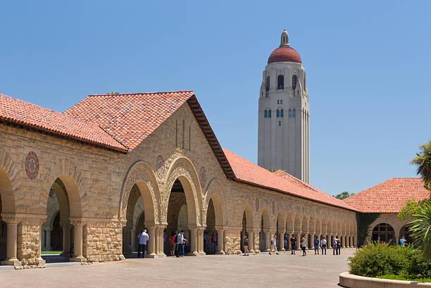 Stanford Courtyard stock photo