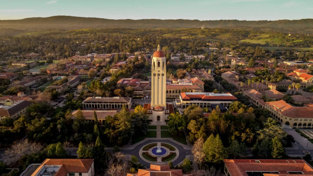 Stanford University at Dawn stock photo