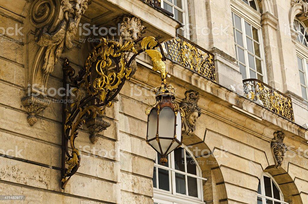 Stanislas square lanterm royalty-free stock photo
