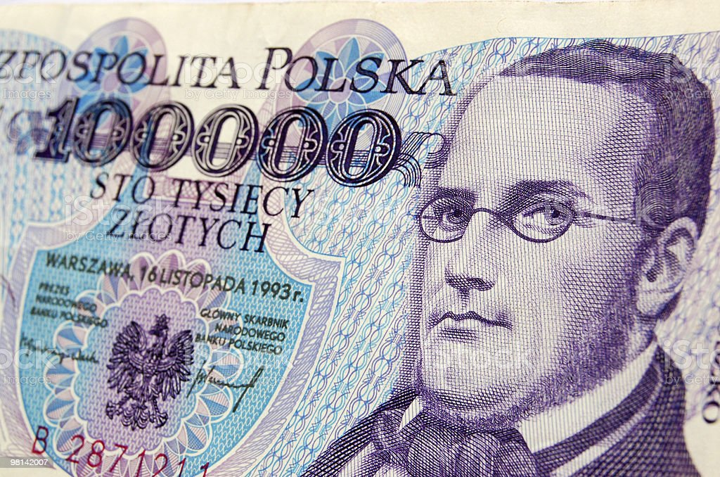 Stanisław Moniuszko banknote royalty-free stock photo