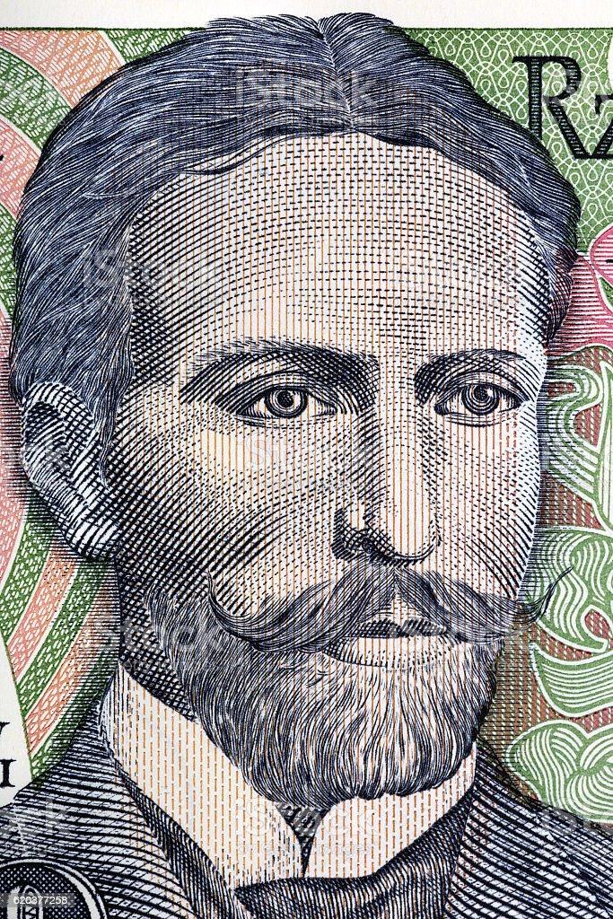Stanislaw Wyspianski portrait from old ten thousand zloty zbiór zdjęć royalty-free