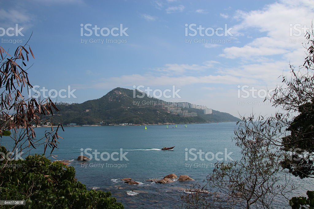 Stanley bay in Hong Kong stock photo