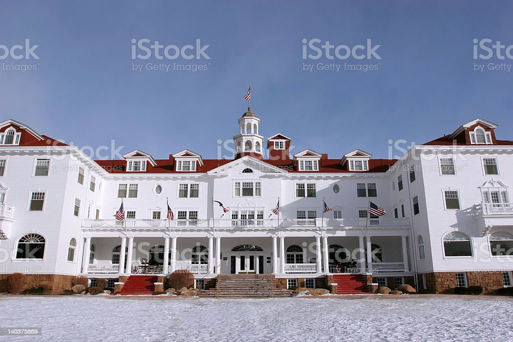 Stanley Hotel, Estes Park, CO stock photo