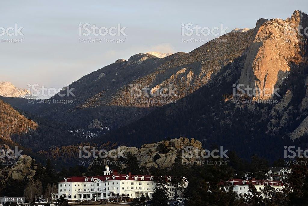 Stanley Hotel, Estes Park, Colorado stock photo