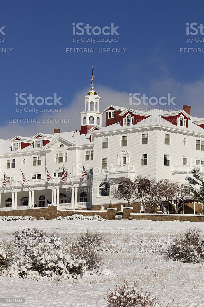 Stanley Hotel in Winter royalty-free stock photo