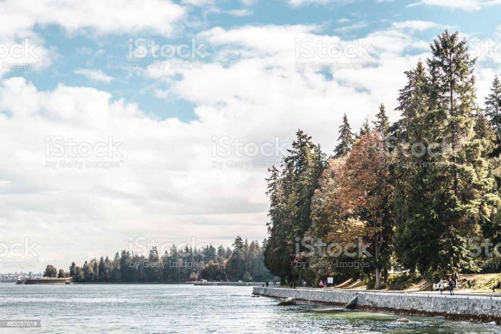 Stanley Park and the Seawall in Vancouver, BC, Canada stock photo