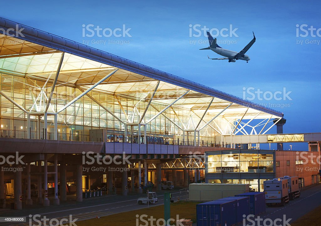 Stansted airport stock photo