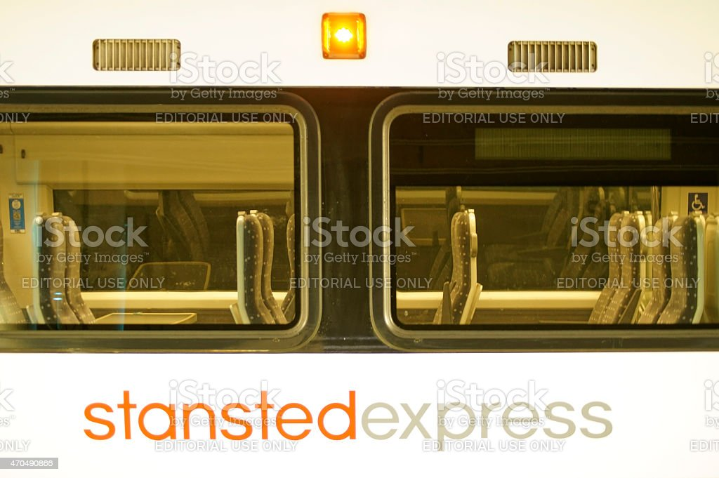 Stansted Express train stock photo