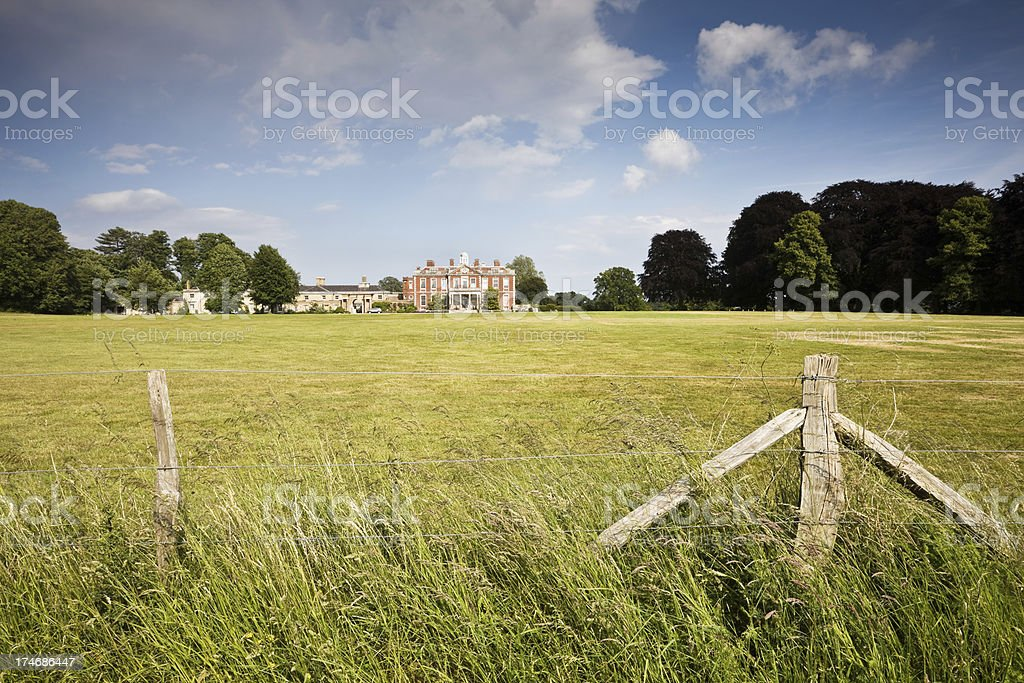 Stansted House and Park stock photo