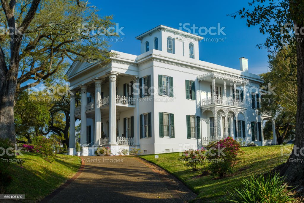 stanton hall mansion, natchez, mississippi stock photo