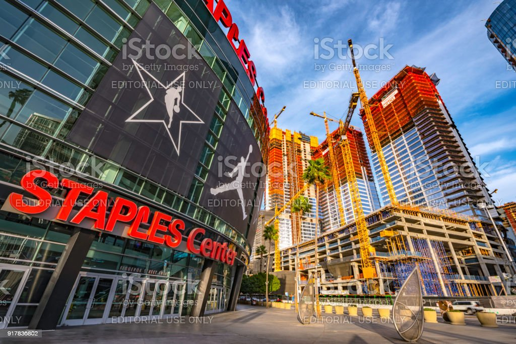 Staple Center Sports Arena in Los Angeles stock photo