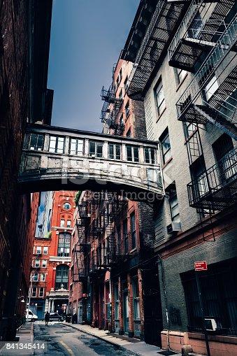 Staple Street in Lower Manhattan, New York City, USA