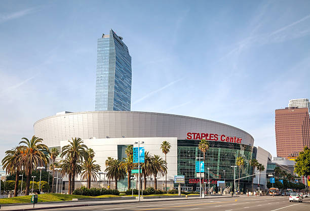 Staples Center in downtown Los Angeles, CA stock photo