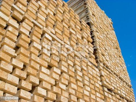 Fresh cut wood staples