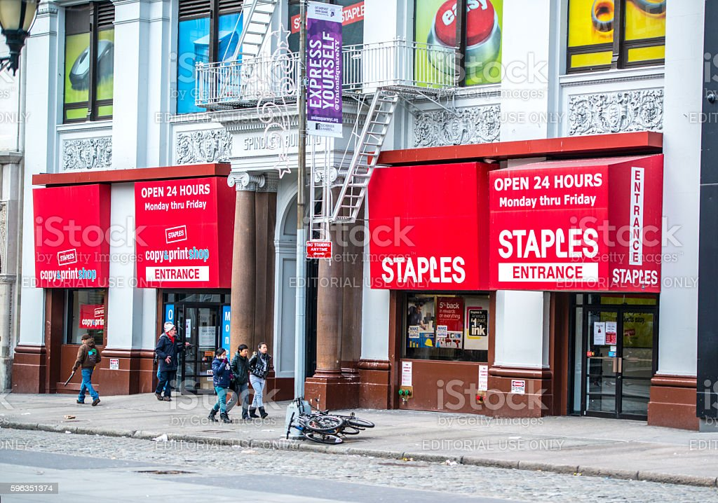 Staples store on Union Square, NYC royalty-free stock photo