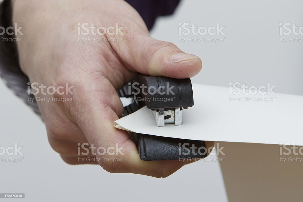 Stapling stock photo