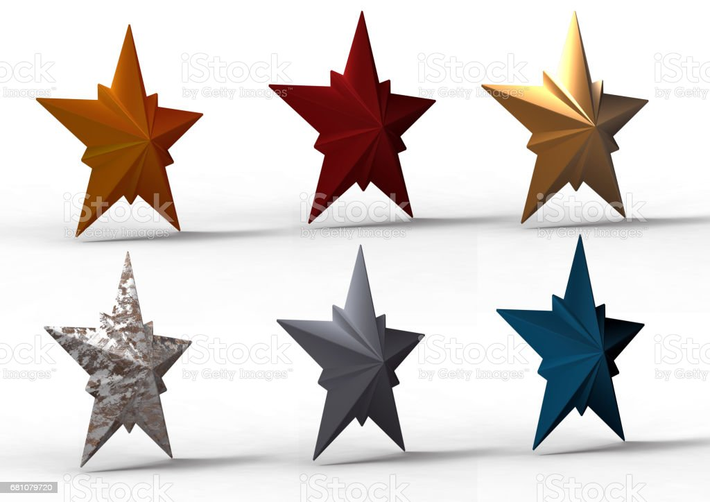 star 3D royalty-free stock photo