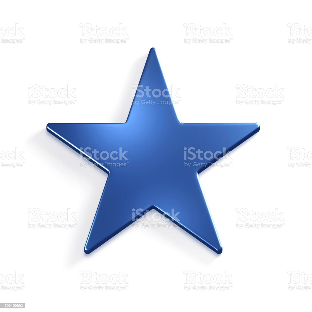 Star. 3D Rendering Illustration stock photo