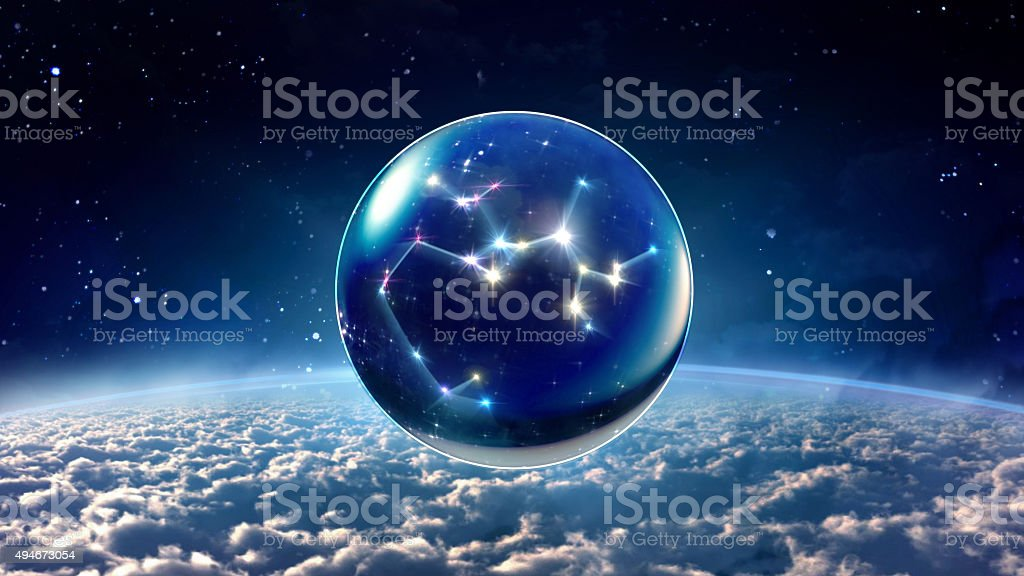 star 9 Sagittarius Horoscopes Zodiac Signs space stock photo