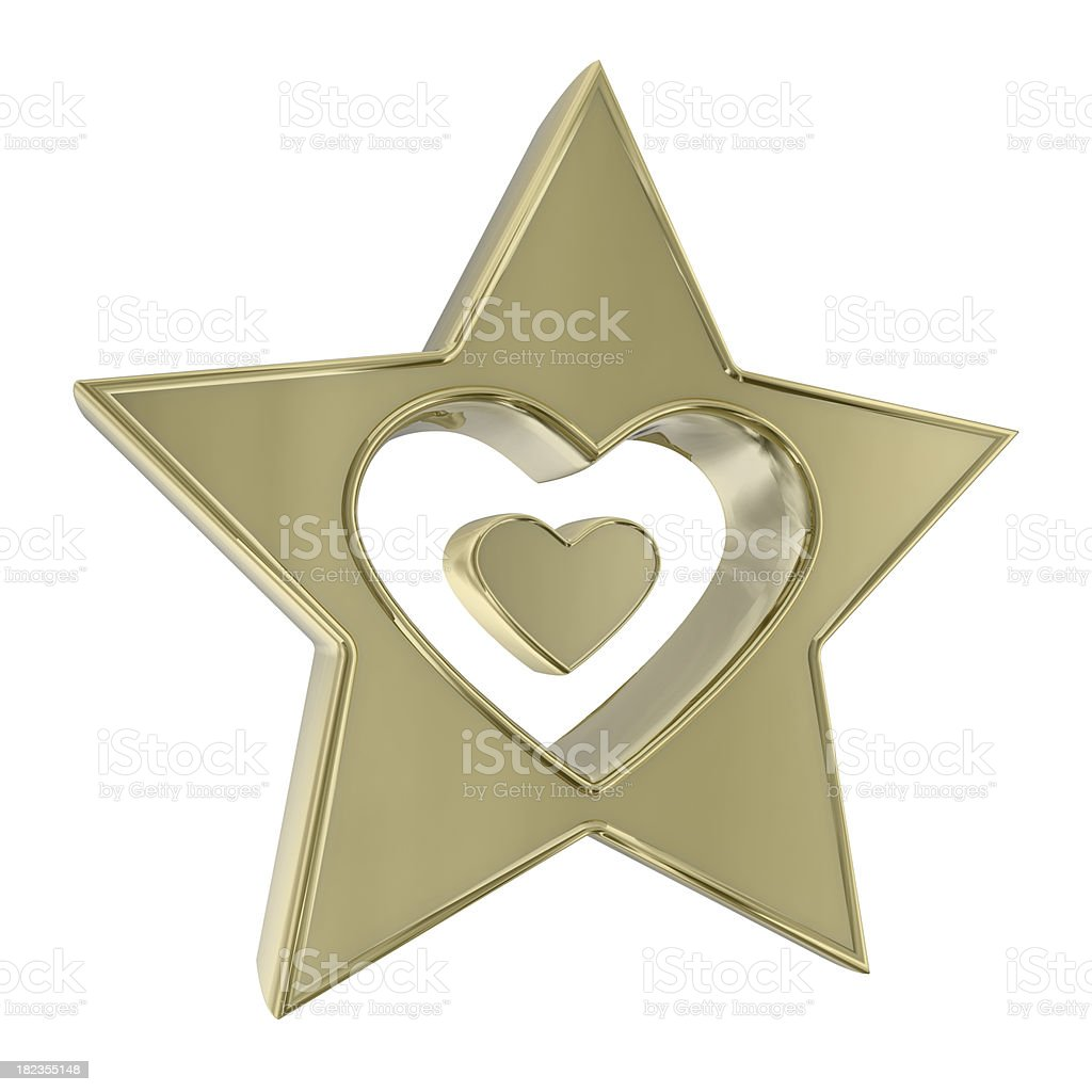 Star and Heart stock photo