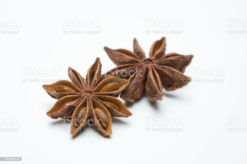 Star anise on a white background Star anise on a white background Anise Stock Photo