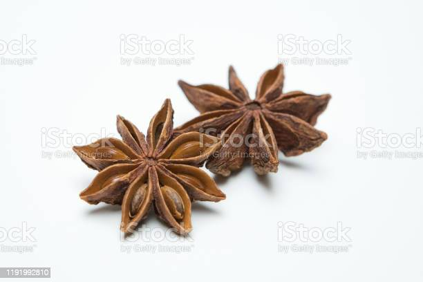 Star Anise On A White Background Stock Photo - Download Image Now