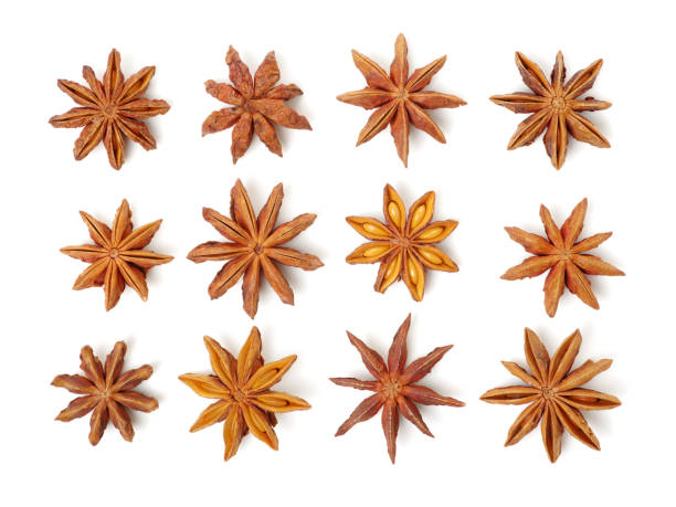Star anise  on a white background Star anise  on a white background star anise stock pictures, royalty-free photos & images