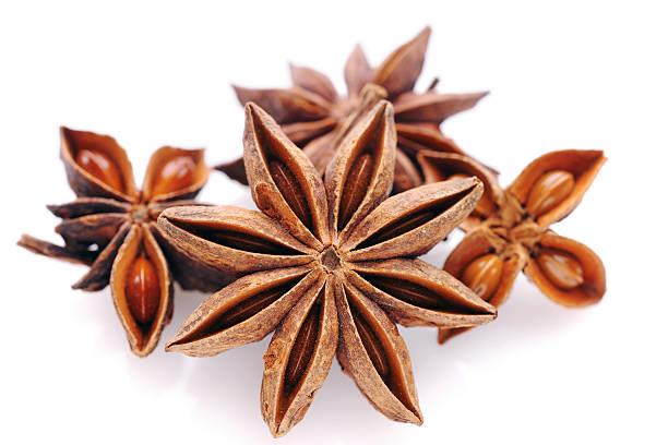 Star anise on white Star anise on white - XXXL Image star anise on white stock pictures, royalty-free photos & images