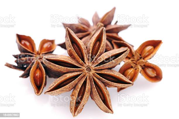 Star Anise On White Stock Photo - Download Image Now