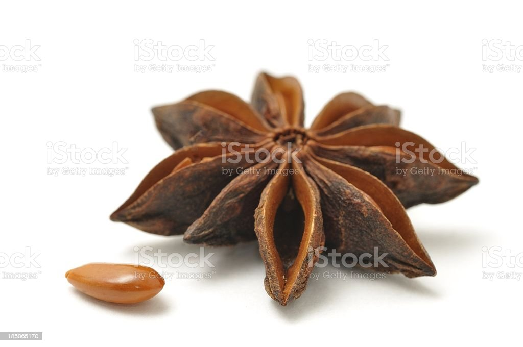 Star anise pod and seed stock photo