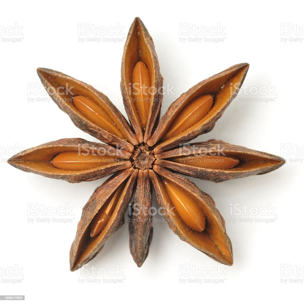 Star anise pod royalty-free stock photo
