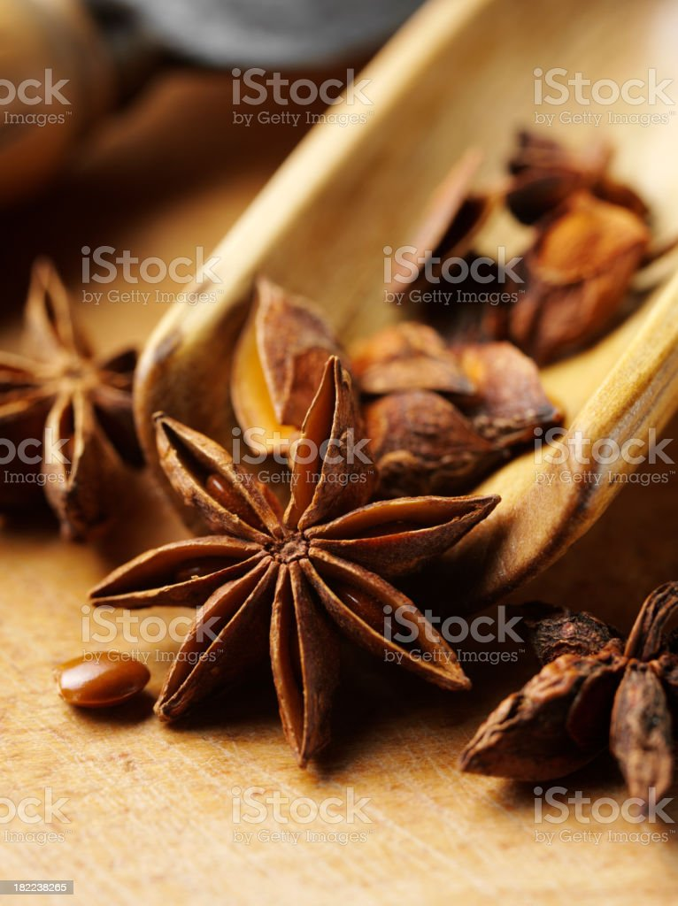 Star Anise Spice royalty-free stock photo