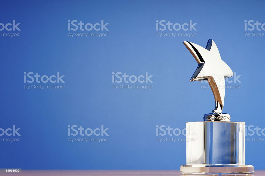 Star award against gradient background royalty-free stock photo