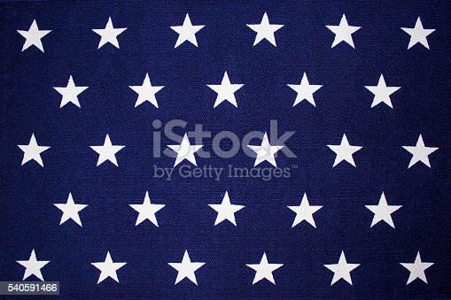 istock Star Background on an American flag 540591466