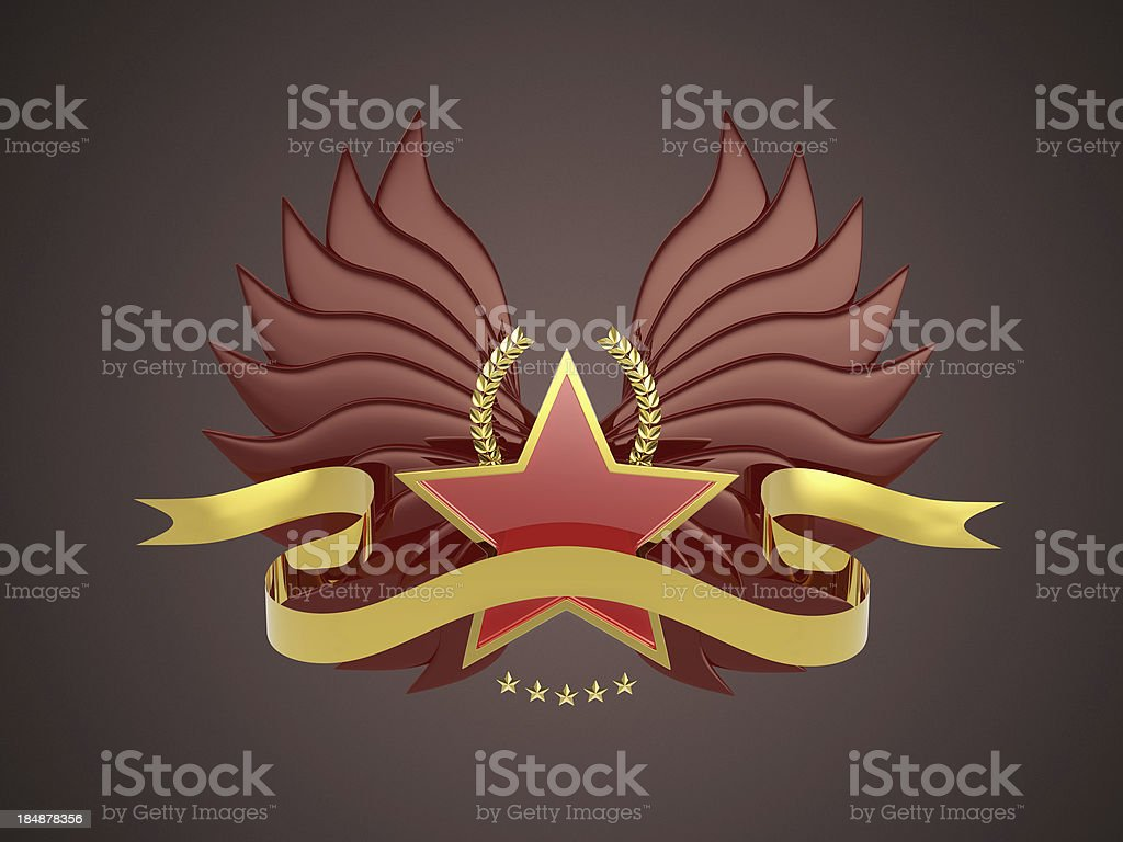Star banner royalty-free stock photo
