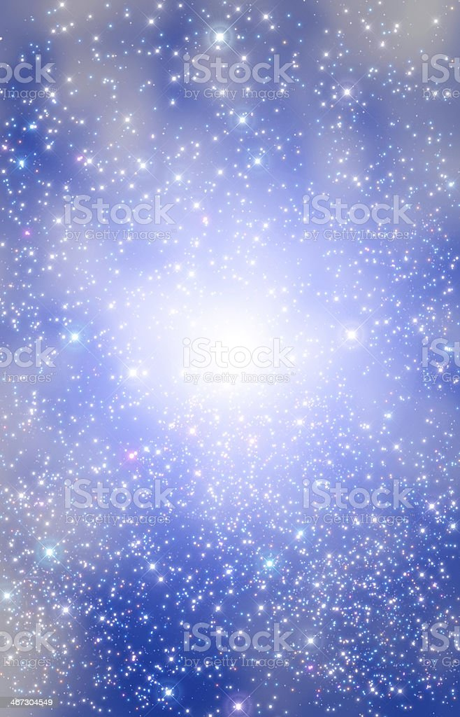 Star Burst in the Milky Way royalty-free stock photo