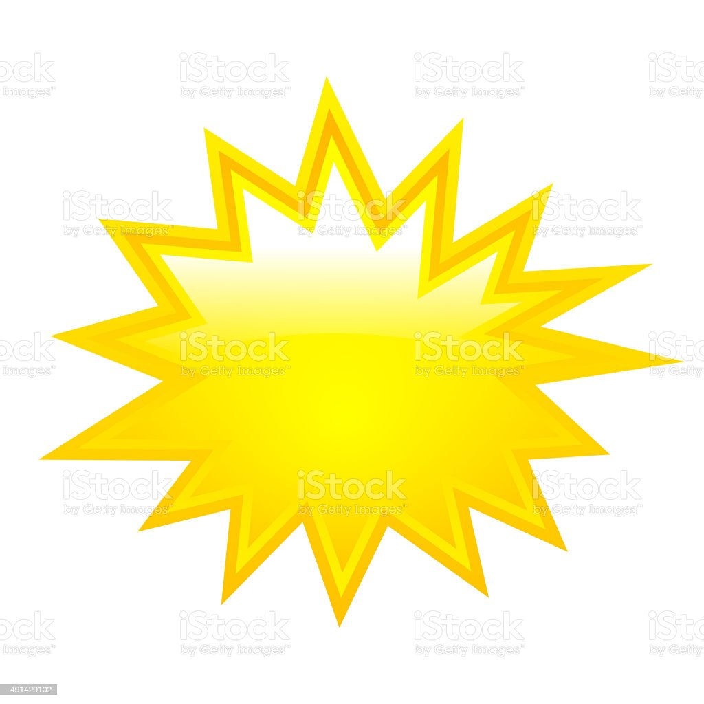 Star bursting icon stock photo