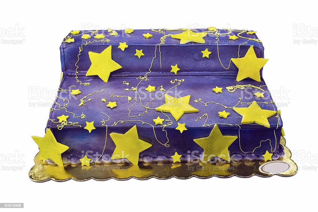 Star cake with path stock photo