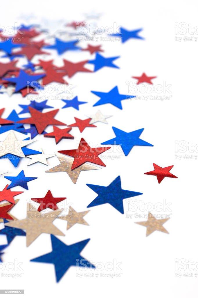 Star confetti background stock photo